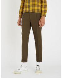 The Kooples - Chain Trim Wool-blend Trousers - Lyst