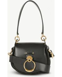 Chloé - Tess Leather And Suede Cross-body Bag - Lyst