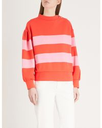 Claudie Pierlot - Striped Cotton-jersey Sweatshirt - Lyst