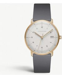 Junghans - 047/7854.00 Max Bill Damen Stainless Steel And Leather Watch - Lyst