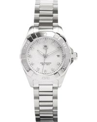 Tag Heuer - Way1413.ba0920 Aquaracer Stainless Steel And Mother-of-pearl Watch - Lyst