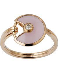 Cartier - Amulette De 18ct Pink-gold - Lyst