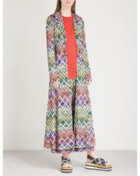 Missoni - Diamond-pattern Woven Coat - Lyst