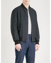 Ferragamo - Reversible Cotton And Shell Bomber Jacket - Lyst