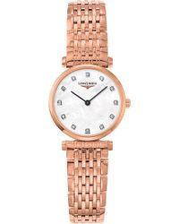 Longines - L4.209.1.97.8 La Grande Classique Rose Gold And Diamond Watch - Lyst