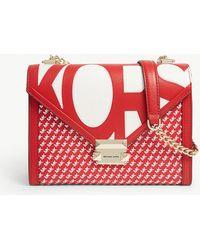 MICHAEL Michael Kors - Whitney Logo Leather Shoulder Bag - Lyst