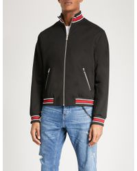 The Kooples - Panther-embroidered Stretch-cotton Bomber Jacket - Lyst