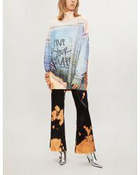 Marques'Almeida - Live Your Life Cotton-blend Sweatshirt - Lyst