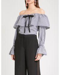 Rejina Pyo - Clara Off-the-shoulder Cotton-poplin Top - Lyst