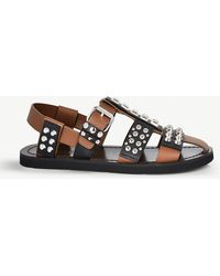 Prada - Fisherman Studded Leather Sandals - Lyst