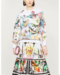 Mary Katrantzou - Insect-print Cotton-jersey Sweatshirt - Lyst