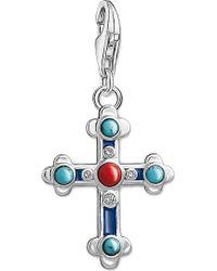 Thomas Sabo - Charm Club Cross Silver Charm Pendant - Lyst