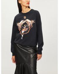 Givenchy - Virgo Logo-print Cotton-jersey Sweatshirt - Lyst