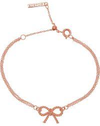 Olivia Burton - Vintage Bow 18ct Rose Gold Plated Sterling Silver Bracelet - Lyst