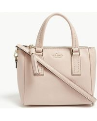 Kate Spade - Ladies Warm Vellum Pink Striped Kingston Drive Mini Alena Leather Shoulder Bag - Lyst