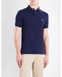 Polo Ralph Lauren - Slim-fit Cotton-pique Polo Shirt - Lyst