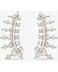 Kendra Scott - Laurie Rhodium-plated And Cubic Zirconia Climber Earrings - Lyst