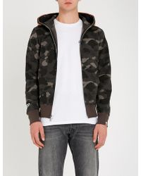 A Bathing Ape - Tiger Camouflage-print Cotton-jersey Hoody - Lyst