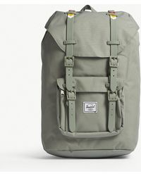 Herschel Supply Co. - . Light Grey Woven Little America Canvas Backpack - Lyst