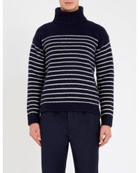 Polo Ralph Lauren - Striped Turtleneck Wool Jumper - Lyst