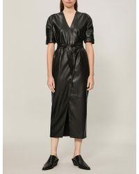 Nanushka - Penelope Faux-leather Midi Dress - Lyst