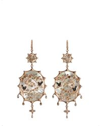 Annoushka - Dream Catcher 18ct Rose Gold And Diamond Earrings - Lyst