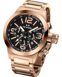TW Steel - Tw307 Canteen Bracelet Rose Gold Watch - Lyst