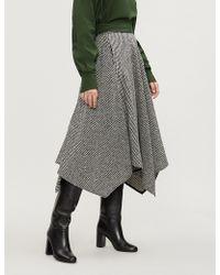 ADEAM - Handkerchief Wool-blend Tweed Bouclé Skirt - Lyst