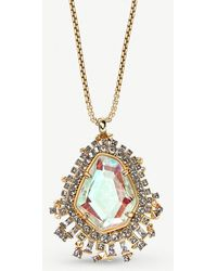 Kendra Scott - Daenerys 14ct Gold And Dichroic Glass Pendant Necklace - Lyst