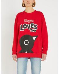 Chocoolate - Penguin Oversized Cotton-jersey Sweatshirt - Lyst