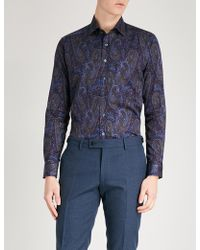 Etro - Paisley-print Tailored-fit Cotton-poplin Shirt - Lyst