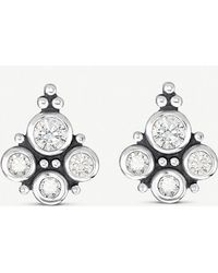 7c4e31953 Thomas Sabo Kingdom Of Dreams Royalty Star & Moon 18ct Yellow-gold Plated  Sterling Silver Earrings in Yellow - Lyst