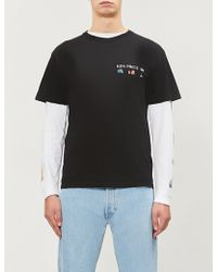 Stussy - Imaginary Spaces-print Cotton-jersey T-shirt - Lyst