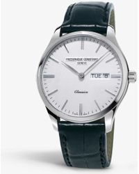 Longines - 225st5b6 Classics Quartz Index Stainless Steel And Leather Strap Watch - Lyst