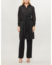 Huishan Zhang - Sylvia Embellished Lace Trench Coat - Lyst