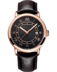 88 Rue Du Rhone - 87wa144205 Double 8 Origin Rose Gold-plated And Leather Watch - Lyst