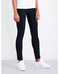 Claudie Pierlot - Bead-embellished Skinny High-rise Jeans - Lyst
