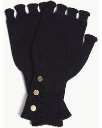 Thom Browne - Fingerless Merino Wool Gloves - Lyst