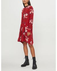 Zadig & Voltaire - Ruti Pensee Floral-print Crepe Dress - Lyst
