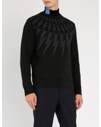 Neil Barrett - Lightning Bolt-print Cotton Sweatshirt - Lyst