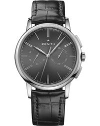Zenith - 03.2270.4069/26.c493elite Chronograph Classic Alligator-leather Watch - Lyst
