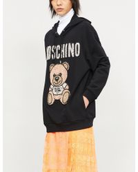 Moschino - Teddy Crystal-embellished Cotton-jersey Hoody - Lyst