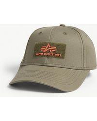 Alpha Industries - Riptape Logo Cotton Strapback Cap - Lyst