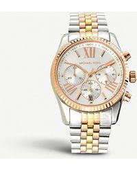a3760c17eba0 Michael Kors - Mk5735 Bradshaw Two-tone Steel Watch - Lyst