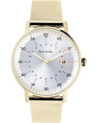 Paul Smith - P10130 Gauge Gold-plated Stainless Steel Watch - Lyst