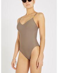 Calvin Klein - Core Solids Swimsuit - Lyst