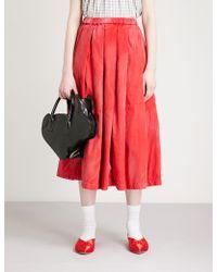 Comme des Garçons - Faded Cotton Skirt - Lyst