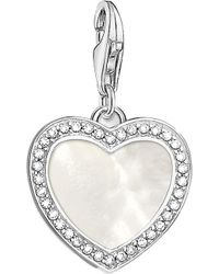 Thomas Sabo - Charm Club With Love Sterling Silver And Mother-of-pearl Charm - Lyst