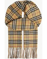 Burberry - Vintage Check Reversible Cashmere Scarf - Lyst
