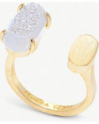 Kendra Scott - Pryde 14ct Gold-plated Brass Ring In Iridescent Drusy - Lyst